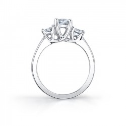 Three Stone Engagement Ring - 5019L