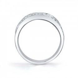 White Gold Diamond Band 6723L Profile