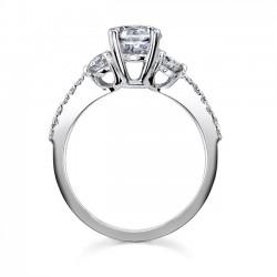 Three Stone Diamond Ring - 7539L Profile