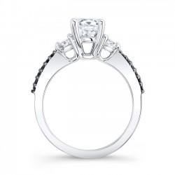 Black Diamond Engagement Ring 7539LBK Profile
