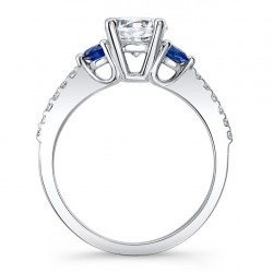 Blue Sapphire Engagement Ring 7539LBSRV Profile
