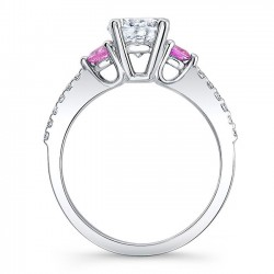 Engagement Ring With Pink Sapphires 7539LPSRV Profile