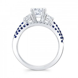 Blue Sapphire Engagement Ring 7539SBS Profile