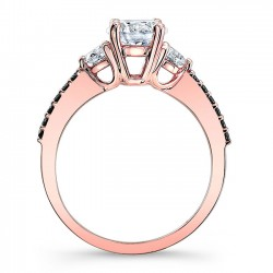 Rose Gold Bridal Set 7539SLBK Side