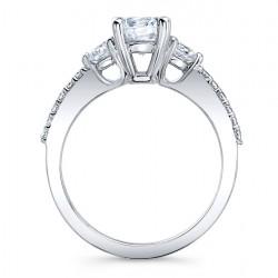 Three Stone Ring 7539S Profile