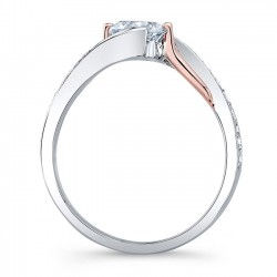 Diamond Engagement RIng 7605LTRV Profile