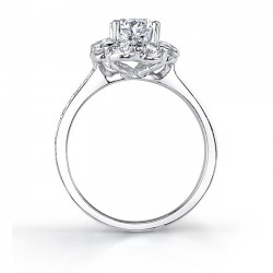 Flower Engagement Ring 7661L Profile
