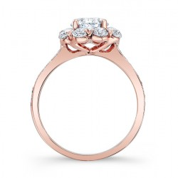 Rose Gold Engagement Ring 7661LP Profile