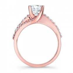 Rose Gold Engagement Ring - 7677LP Profile