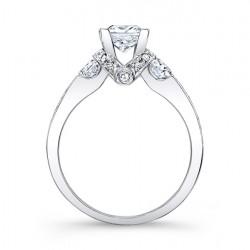 Princess Cut Engagement Ring - 7832L Profile