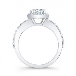 Halo Engagement Ring - 7838L Profile