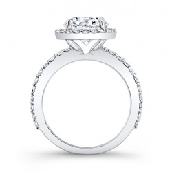 Halo Engagement Ring 7839L Profile