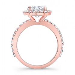 Rose Gold Engagement Ring - 7839LP Profile