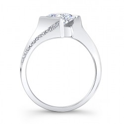 Princess Cut Bridal Set 7840S Profile