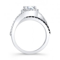 Black Diamond Engagement Ring - 7848LBK Profile