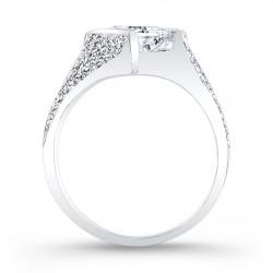 Princess Cut Engagement Ring - 7872L Profile