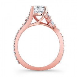 Rose Gold Engagement Ring 7908LP Profile