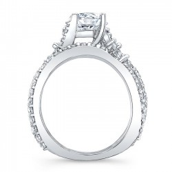 White Gold Marquise Bridal Set 7908S Profile