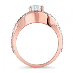Rose Gold Engagement Ring - 7913LP Profile