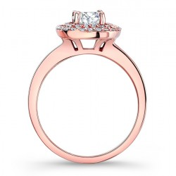Rose Gold Halo Engagement Ring - 7918LP