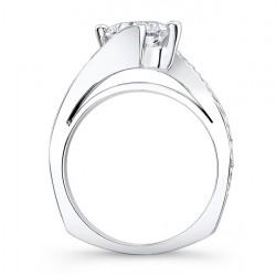Princess Cut Engagement Ring 7922L - Profile