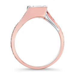 Rose Gold Engagement Ring - 7924LT Profile