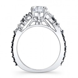 Black Diamond Engagement Ring 7932LBK Profile