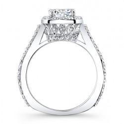Halo Engagement Ring 7933L Profile