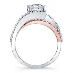 Princess Cut Engagement Ring 7935LT Profile