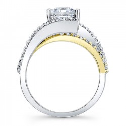 Princess Cut Engagement Ring 7935LTY Profile