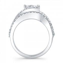 Classic White Gold Princess Cut Bridal Set 7935S Profile
