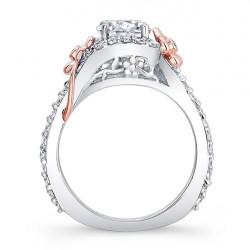 Floral Engagement Ring 7936LT Profile