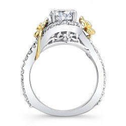 Flower Engagement Ring 7936LTY Profile