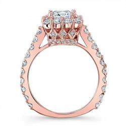 Princess Cut Engagement Ring 7939LP Profile