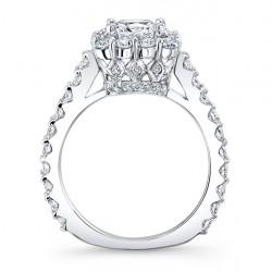 Princess Cut Halo Engagement Ring 7939L Profile