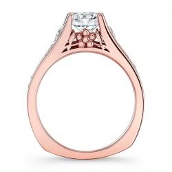 Rose Gold Engagement Ring 7940LP Profile