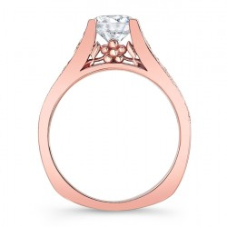 Rose Gold Engagement Ring 7944LP Profile