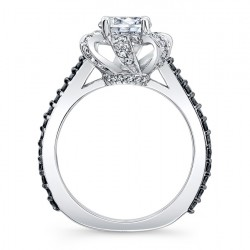 Black Diamond Engagement Ring 7958LBK Profile