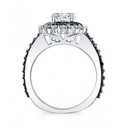 Black Diamond Bridal Set 7969S2BK Profile
