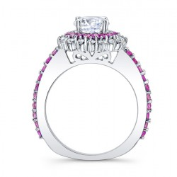 Pink Sapphire Engagement Ring 7969LPS Profile