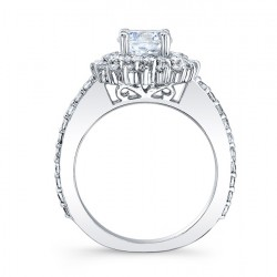 Halo Engagement Ring 7969L Profile