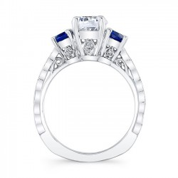 Blue Sapphire Engagement Ring 7973LBS Profile