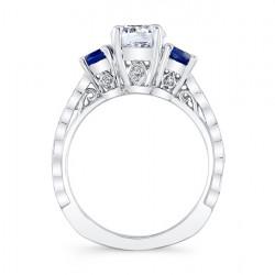Blue Sapphire Bridal Set 7973SBS Profile