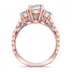 Rose Gold Engagement Ring 7973LP Profile