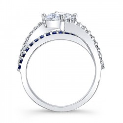 Blue Sapphire Engagement Ring 7976LBS Profile