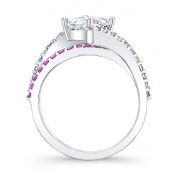 Pink Sapphire Engagement Ring 7976LPS Profile