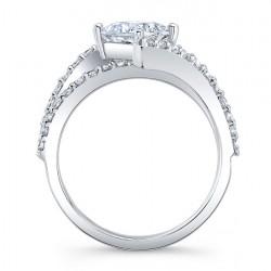 Barkev's Princess Cut Engagement Ring 7976L Profile