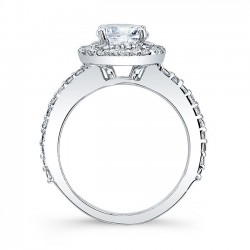 Halo Engagement Ring 7977L Profile