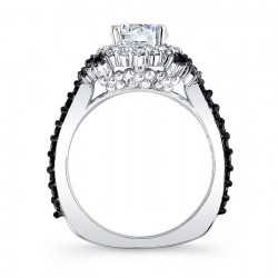 Black Diamond Engagement Ring 7979LBK Profile