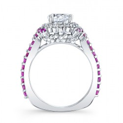 Pink Sapphire Engagement Ring 7979LPS Profile